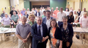 Mark Williams MP and Parliamentary Candidate Charlotte Barnes, with guests at Election thank you party